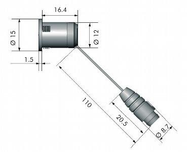 Wymiary nadajnika ELS300Tx-L
