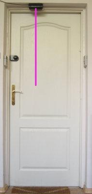 TPS-210 zamontowany w drzwiach